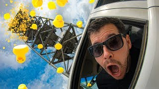 Download 1000 RUBBER DUCKS Vs. CAR from 45m Tower! (Driver Is Inside!!) Mp3 and Videos