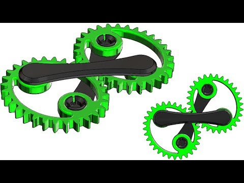 SolidWorks eq Tutorial # 296: oval /elliptical gears (gear involute equation )