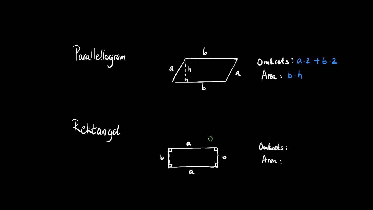 Parallellogram och rektangel - Geometri - Steg 1