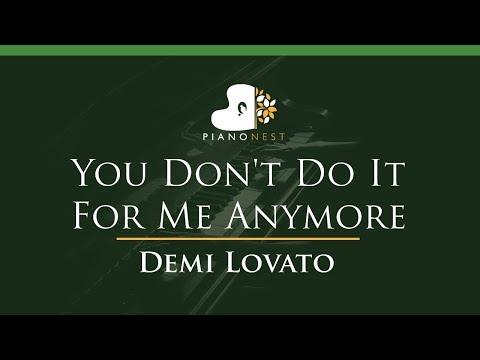 Demi Lovato - You Don't Do It For Me Anymore - LOWER Key (Piano Karaoke / Sing Along)
