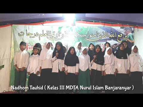 Nadhom Tauhid Kelas 3 MDTA Nuris Banjaranyar Balapulang Tegal 2018