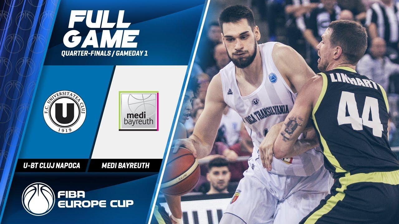 U-BT Cluj Napoca v medi Bayreuth - Full Game - FIBA Europe Cup 2019