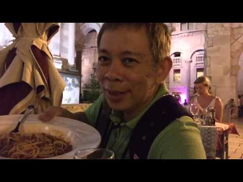 Croatia Travel Guide : Dinner at Luxor Restaurant,The Palac Dioklecjana, Split, Croatia