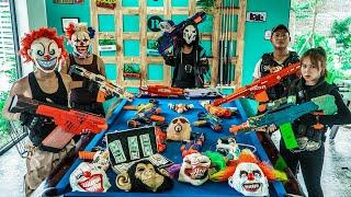 LTT Films : Couple S.E.A.L X Nerf Guns Fight Criminal Group Black Demon Mask World Invaders