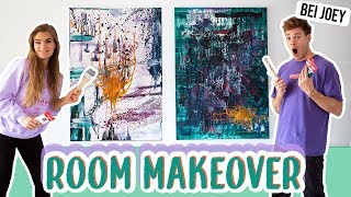 Action Painting mit Joeys Jungle // Room Makeover Serie - Teil 3 // I'mJette