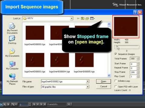 VisualCG 3D [Chapter03] Importing Sequence Images.