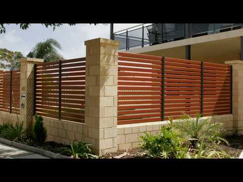 Горизонтальные заборы и ограждения. Забор из металла. Красивые фото решения!