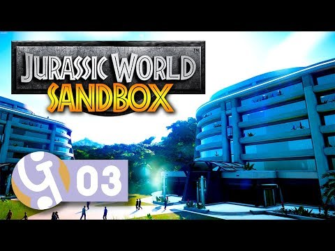 🦖 Hotels & Security | Isla Nublar Sandbox Mode | Let's Create Jurassic World Evolution #03