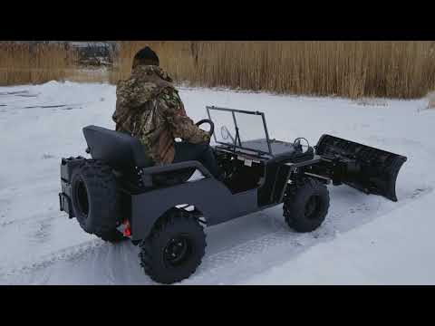 Mini Truck UTV Utility Vehicle jeep With Snow Plow Included For Sale