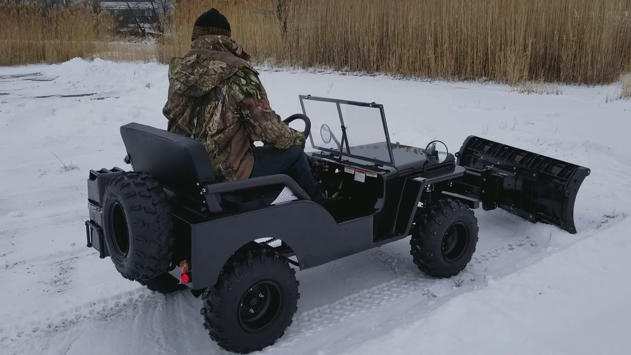 Jeep With Plow For Sale >> Mini Truck UTV Utility Vehicle jeep With Snow Plow Included For Sale - YouTube