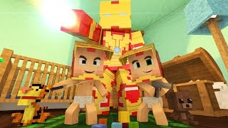 Minecraft : WHO'S YOUR DADDY? - OS FILHOS DO IRON MAN LOUCO ! ( Avengers)