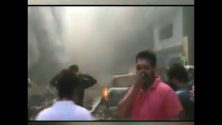 Video Shows Damage Post Pia Plane Crash Near Karachi Residential Area