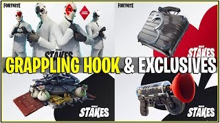 *NEW* Fortnite: WILD CARD EXCLUSIVE BACKBLING, TOOL, GLIDER AND MORE! | (Grappling Hook Coming)