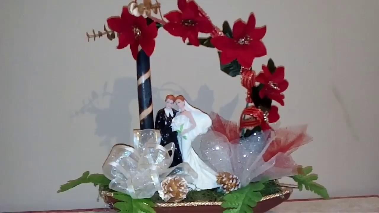 Centro de mesa para boda elegante en el mes navide o youtube - Centros navidenos de mesa ...