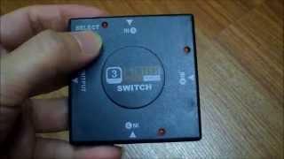 Mini 3 Port HDMI Switch Switcher Splitter 3 input 1 Output Box