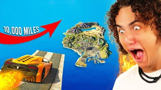 Can You Jump The ENTIRE MAP in GTA 5? (GTA 5 Mods)