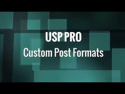 USP Pro - 21. Custom Post Formats