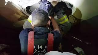 increíble como rescatan a mujer por sismo en México