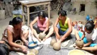 ANCIENT ROCK & Paddle Ceramic techniques of Chulucanas Peru