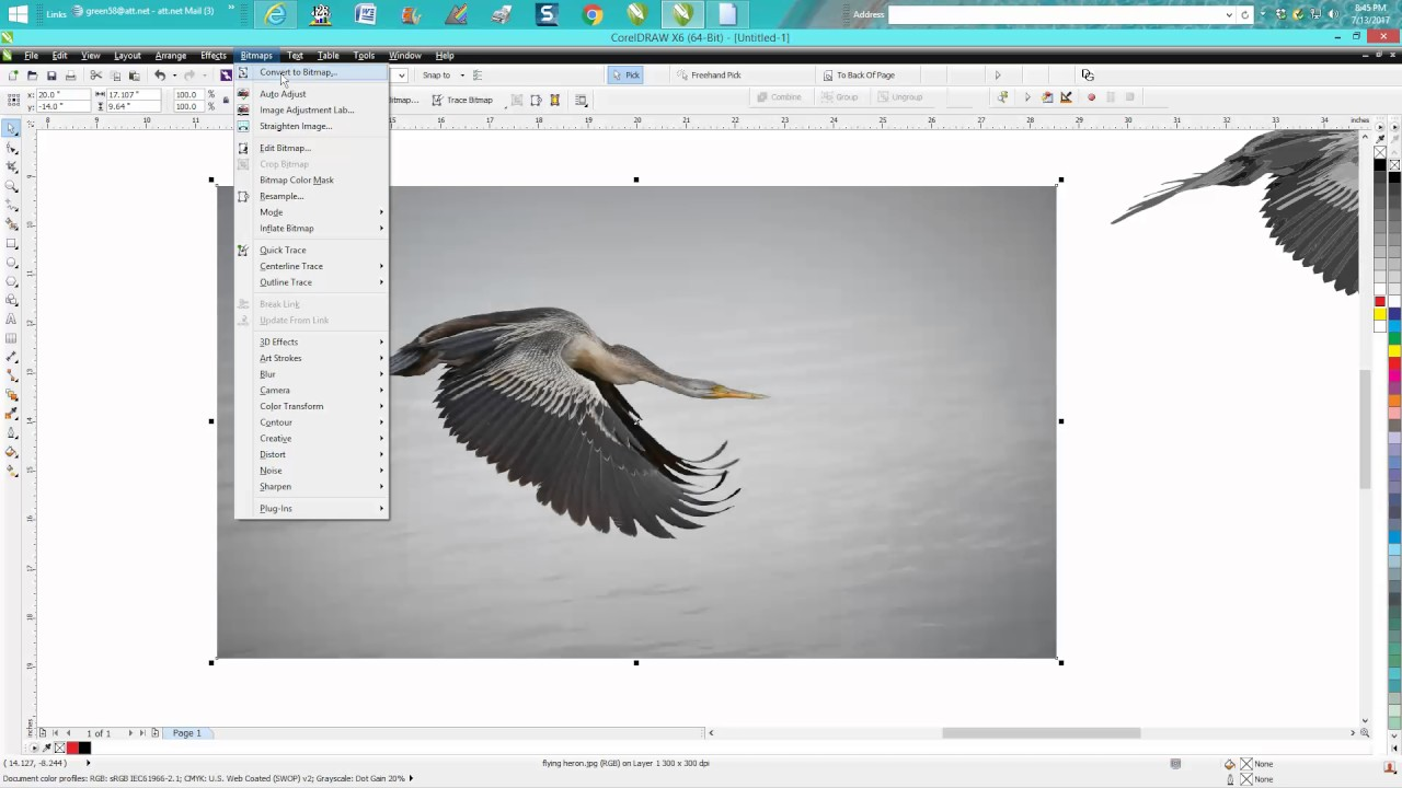 Corel Draw Tips & Tricks Cut an object OUT on a JPEG