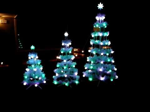 Musical Christmas Trees with lights! - YouTube