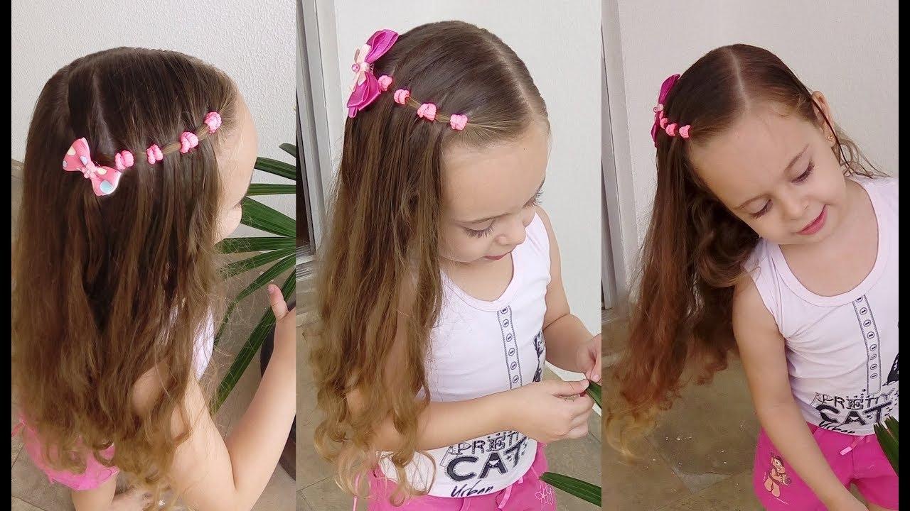 Penteado Infantil Rápido Com Amarradinhos Para Cabelos Curtos E Longos