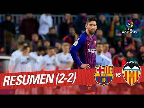 Resumen de FC Barcelona vs Valencia CF (2-2)