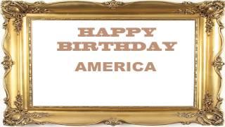 America   Birthday Postcards & Postales - Happy Birthday