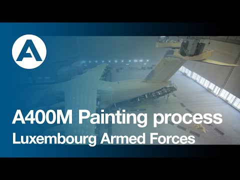 Painting process of A400M for Luxembourg Armed Forces