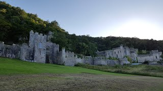 Camping in Abergele, Wales, near haunted Gwrych castle.