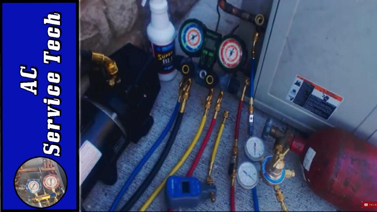 Hvac Nitrogen Pressure Test Procedure For A C Units The