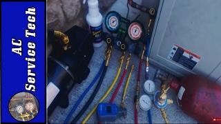 HVAC Nitrogen Pressure Test Procedure for A/C Units, the Oil Blowout, Vacuum Pump Setup!