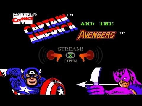 Captain America and the Avengers прохождение 100% | Игра на (Dendy, Nes, Famicom, 8 bit) 1991 cтрим