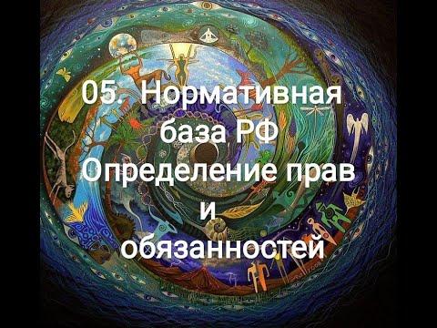 05 Нормативная база РФ Определение прав и обязанностей