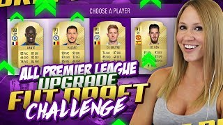 ALL PREMIER LEAGUE UPGRADES FUT DRAFT CHALLENGE! | FIFA 18