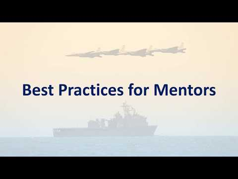 Mentor Best Practices