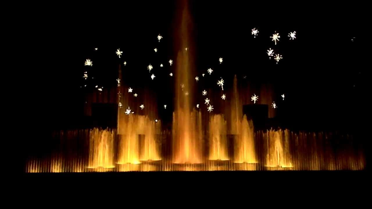 Christmas Fountain Show At Longwood Gardens Hd Youtube