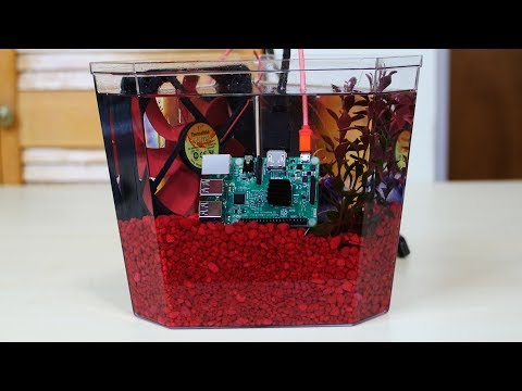 Raspberry Pi 3 Submerged In Mineral Oil - In 3 Minutes