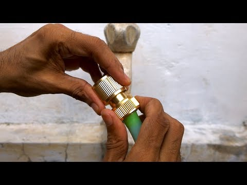 How to Connect Garden Hose to Tap (Metal Connector)
