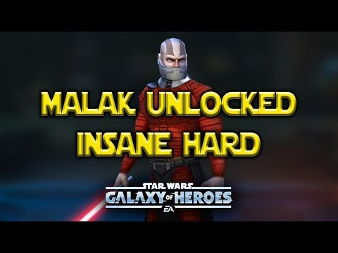 Malak Unlocked Event INSANE HARD Light Side/Dark Side - Star Wars: Galaxy of Heroes - SWGoH