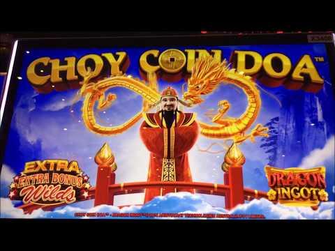 ★BIG WIN☆CHOY COIN DOA Slot machine (Aristocrat) Live Play and Big win Bonus☆彡@ San Manuel Casino 栗