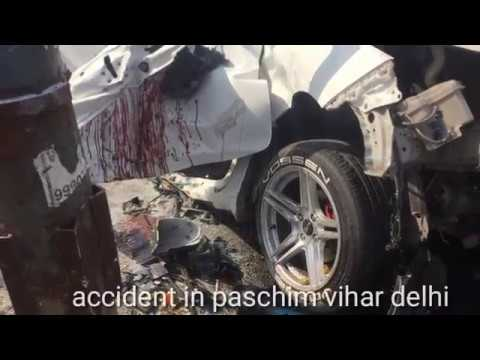 honda city accident in paschim vihar delhi|| road accident cctv footage.