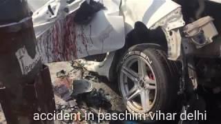 honda city accident in paschim vihar delhi|| road accident cctv footage.
