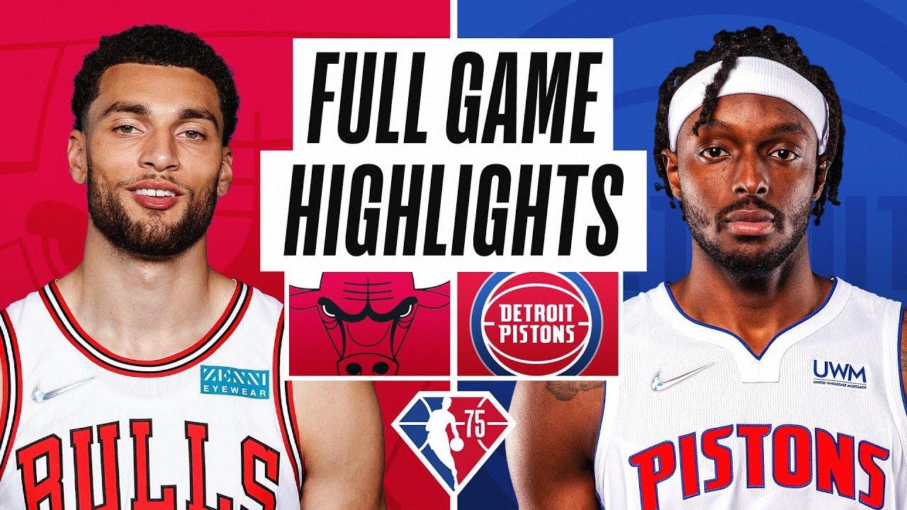 BULLS at PISTONS | FULL GAME HIGHLIGHTS | October 20, 2021 - NBA