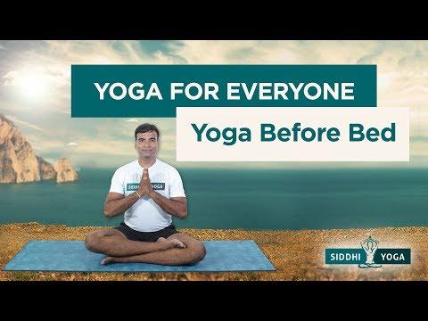 Yoga Before Bedtime for a Better Sleep in 10 min. by Yogi Ritesh - Siddhi Yoga