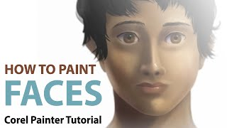How To Draw Human Faces with Corel Painter 12