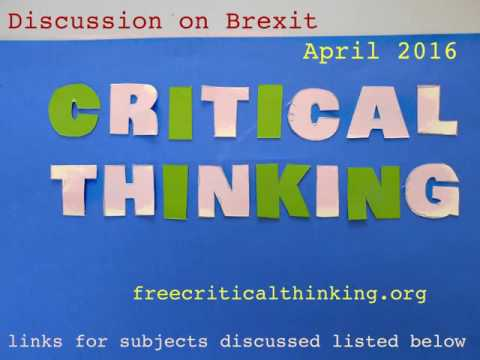 Critical Thinking discussion on Brexit