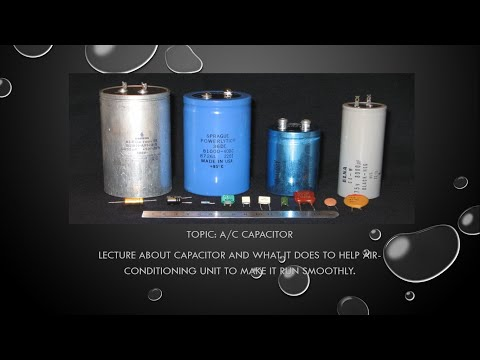 A/C Capacitor Tutorial Lecture And How To Check Tagalog Language