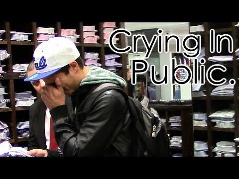 Crying In Public Prank