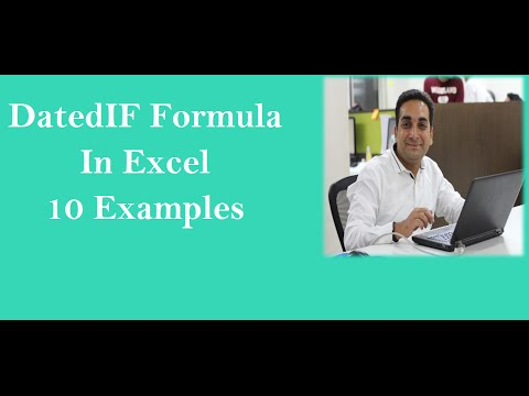 MS Excel :Datedif Formula In Excel with 6 Variation